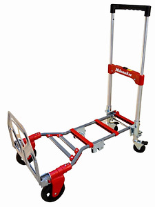 Milwaukee Folding Hand Truck Dolly Portable Moving Cart Multi Position Compact