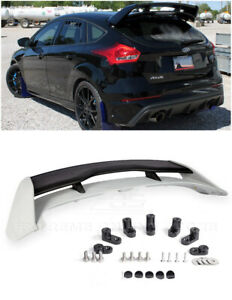 Rs Style Rear Roof Spoiler Lip W Wing Riser Extension For 13 Up Focus Hatchback