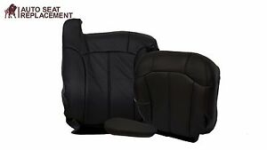99 To 2002 Chevy Silverado Full Driver Package Seat Cover Dark Graphite Vinyl