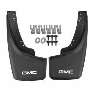 Oem New Rear Molded Splash Guard Mud Flaps W Gmc Logo 99 07 Sierra 12498343