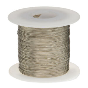 28 Awg Gauge Tinned Copper Wire Buss Wire 1000 Length 0 0126 Silver