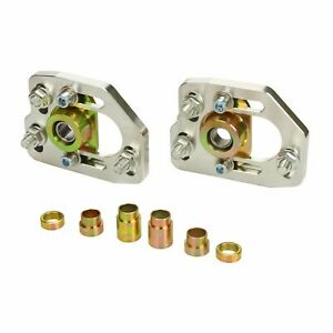 For 90 93 Ford Mustang Front Adjustable 3 0 Camber 2 0 Caster Plates Kit