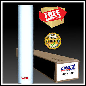 49 X 150 Ft White Reflective Vinyl Adhesive Sign High Reflectivity Printable