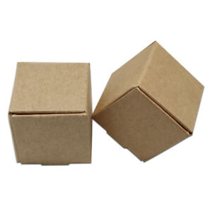 Various Size Brown Kraft Paper Packing Boxes Craft Gift Jewelry Party Paper Box