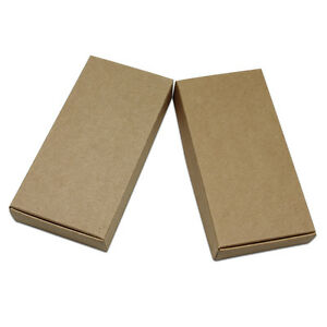 Brown Kraft Paper Candy Jewelry Gifts Box Party Wedding Multi size Packing Boxes