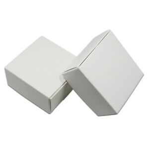 White Kraft Paper Box Gifts Packing Boxes Jewelry Handmade Soap Storage Box