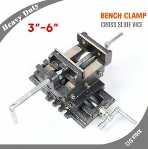 Cross Slide Vise Wide Drill Press X Y Clamp Metal Milling 2 Way 3 4 5 6 Inch