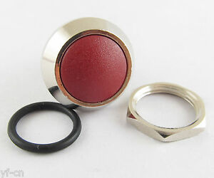 100pcs Metal Red Round Dome Push Button Momentary Waterproof Switch 12mm Qn12 a5