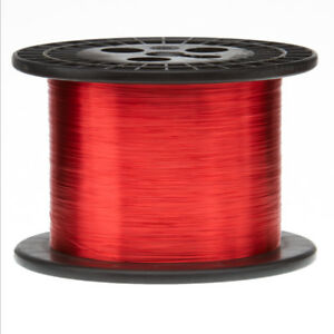 32 Awg Gauge Enameled Copper Magnet Wire 10 Lbs 50030 Length 0 0087 155c Red