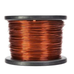 18 Awg Gauge Enameled Copper Magnet Wire 10 Lbs 1992 Length 0 0428 200c Nat