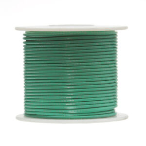22 Awg Gauge Stranded Hook Up Wire Green 250 Ft 0 0253 Ptfe 600 Volts