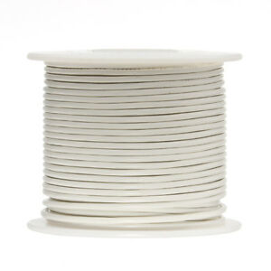22 Awg Gauge Stranded Hook Up Wire White 500 Ft 0 0253 Ptfe 600 Volts