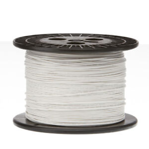 22 Awg Gauge Stranded Hook Up Wire White 1000 Ft 0 0253 Ptfe 600 Volts