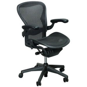 Herman Miller Aeron Chair Refurbished Size B Fully Loaded Carpet Cas Freeship