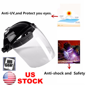 Welding Helmet Arc Grinding Face Shield Mask Transparent Lens Anti Uv Anti Shock