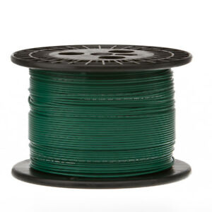 28 Awg Gauge Stranded Hook Up Wire Green 1000 Ft 0 0126 Ptfe 600 Volts