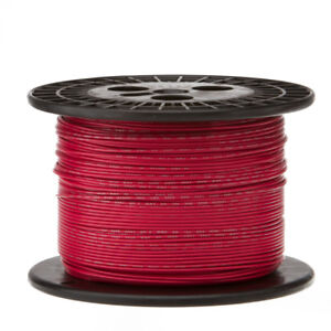 28 Awg Gauge Stranded Hook Up Wire Red 1000 Ft 0 0126 Ptfe 600 Volts