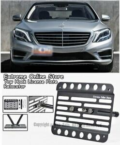 14 up For Benz S class Sedan No Pdc Front License Plate Bracket Holder Tow Hook
