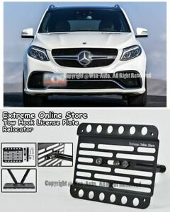 2016 up For Mercedes Benz Gle 63 Amg Coupe Front Bracket Tow Hook License Plate