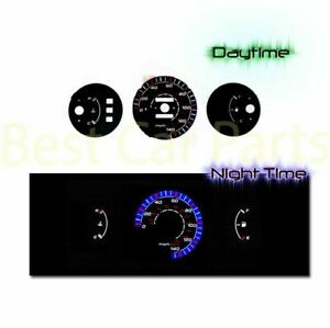 Black Indiglo El Gauges Kit Glow Blue Reverse For 92 95 Civic Dx Mt Only