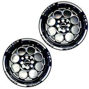 2x 13x8 Modulo Racing Rims Wheels Black Milling Finish 4x100 Et20 Acura Honda
