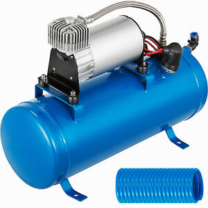 Air Compressor With 6 Liter Tank 120 Psi Dc 12v For Train Horns Kit Truck
