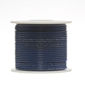 30 Awg Gauge Stranded Hook Up Wire Blue 500 Ft 0 0100 Ptfe 600 Volts