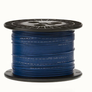 30 Awg Gauge Stranded Hook Up Wire Blue 1000 Ft 0 0100 Ptfe 600 Volts