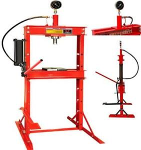 Hydraulic 12 Ton Workshop Garage Shop Floor Standing Press With Foot Pedal