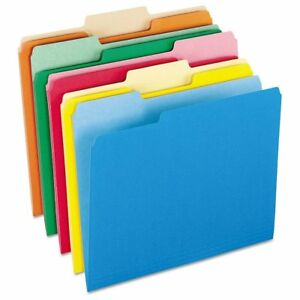 Pendaflex Colored File Folders 1 3 Cut Top Tab Ltr Assorted Colors 100 b