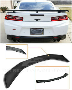 For 16 Up Camaro All Zl1 Factory Style Abs Plastic Rear Trunk Lid Wing Spoiler