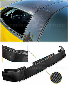 For 05 13 Chevrolet Corvette C6 Gm Factory Carbon Fiber Roof B Pillar Halo Cover