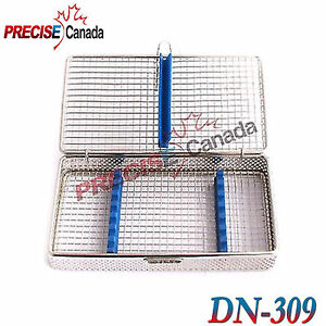 Pack Of 2 Sterilization Cassette Stainless Steel Mesh Tray Dental Surgica Dn 309