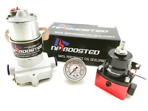 14psi High Flow Electric Fuel Pump 140gph Universal Regulator Pressure Gauge
