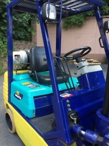 Komatsu Fg25st 11 5000lbs Sideshifter Forklift Lpg Tank Included Ready To Work
