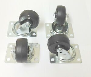 12 2 5 Swivel Caster Wheels Rubber Base With Top Plate And Ball Bearing