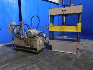 Miller Morehead Hydraulic 4 Post Press 50 Ton X 59 X 26 7736p