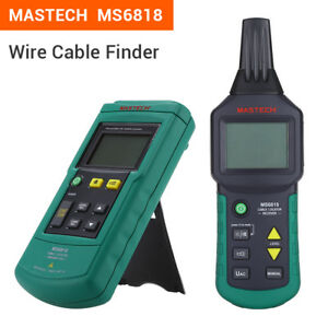 Mastech Ms6818 12v 400v Ac dc Wire Cable Tracker Metal Pipe Locator Detector Tes
