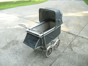 Vintage Rex Stroll O Chair Baby Stroller Carriage With Chrome Fenders