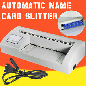 Automatic Business Name Card Slitter Home Office A4 Size Paper Cutting Machine