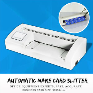 Automatic Name Card Slitter A4 Size Paper Cutter Machine Fr Business Home Office