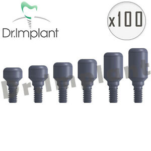 100 Healing Cap Abutment 3 8mm Dental Implant Comp With Alpha Bio Biohorizons