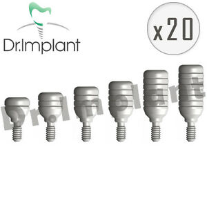 20 Healing Cap Abutment 4 6mm Dental Implant Comp With Alpha Bio Biohorizons