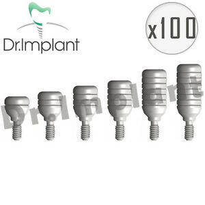 100 Healing Cap Abutment 4 6mm Dental Implant Comp With Alpha Bio Biohorizons