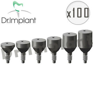 100 Healing Cap Abutment 5 5mm Dental Implant Comp With Alpha Bio Biohorizons