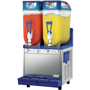 Ampto Commercial Frozen Drink Slush Machine 2 3 Gallon Bowls Non carb