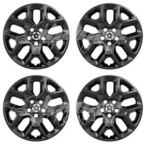 17 Black Wheel Skins Hubcaps Set Of 4 For 2015 2018 Jeep Renegade