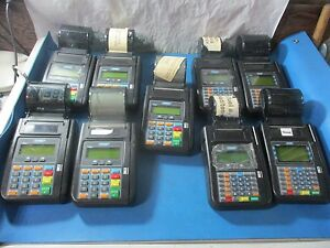 Lot Of 9 Hypercom T7plus Credit Card Machine Used