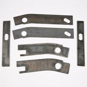 6pc Frame Repair Rusted Shackle Weld Plate Patch Rear 1986 1995 Jeep Wrangler Yj