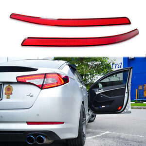 Red 44 smd Led Rear Lens Bumper Reflector Brake Light For 11 13 Kia Optima K5